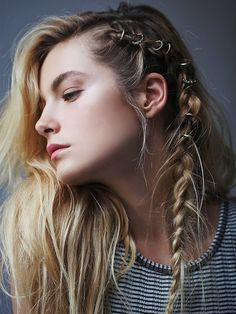 Free People Etched Hair Ring Set | ≼❃≽ @kimludcom