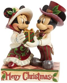 Disney Traditions Victorian Mickey and Minnie Figurine: Amazon.co.uk: Kitchen & Home