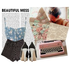 Beautiful Vintage Mess, created by brightlightsbiggercity on Polyvore