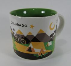 2015 Starbucks Colorado You Are Here Collection Coffee Mug Tea Cup 14 oz Camping #Starbucks