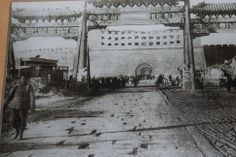 The remains of the Zhengyangmen Gate in the aftermath of the Boxer Rebellion in 1900.