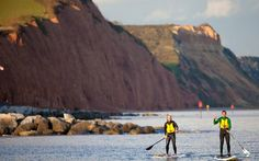 Jurassic Paddle Sports, Paddle boards and kayaks for hourly hire on Sidmouth Beach Sit On Kayak, Fun Days Out, Kayaks, Paddle Boarding, Canoe, Devon, Amazing Places, The Good Place, Boards