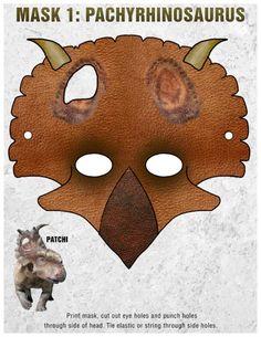Free Printable Dinosaur Masks