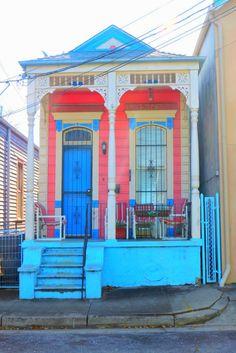 Cute shotgun housing in New Orleans.