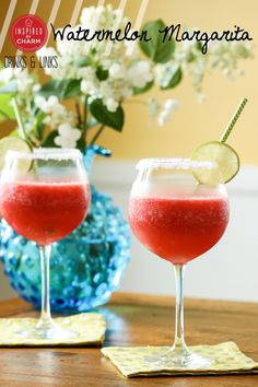 It's 5 o'clock somewhere, right? Watermelon Margarita // refreshing, delicious and gorgeous for warm weather get togethers via Inspired by Charm #cocktail #cheers #summer