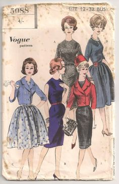 1950s...my grandma and my mother both sewed, and I remember drawers full of patterns. I loved looking through them all.