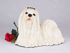 Maltese Cremation Pet Urn for secure installation of your beloved pet's ashes indoors or outdoors *** Continue to the product at the image link.