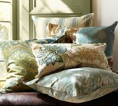 Madeline Paisely Pillow Cover | Pottery Barn