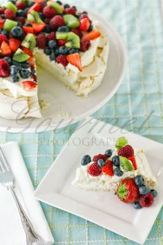 Gourmet Photography: Pavlova - it's a FRUIT pavlova, surely that counts as healthy?!