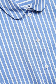 COS image 5 of Round-collar shirt in Blue