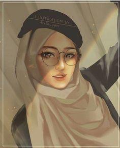 Hijabers fanart - 2 - Page 3 - Wattpad Cartoon Pics, Girl Cartoon, Cartoon Art, Anime School Girl, Anime Art Girl, Hijabi Girl, Girl Hijab, Hijab Drawing, Islamic Cartoon