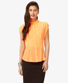 Inverted Pleat Georgette Top | FOREVER21