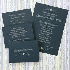 classic mickey wedding invite