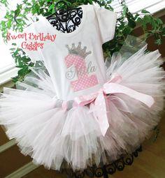 Pink Princess Baby Girl 1st Birthday by SweetBirthdayGiggles, $59.95