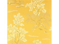 G P & J Baker ORIENTAL TREE YELLOW BW45001.2 - Lee Jofa New - New York, NY, BW45001.2,Lee Jofa,Yellow,Yellow,Up The Bolt,Floral Medium,United Kingdom,Floral Medium,Yes,G P & J Baker,No,ORIENTAL TREE YELLOW
