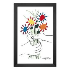 Petite Fleurs by Pablo Picasso Framed Painting Print