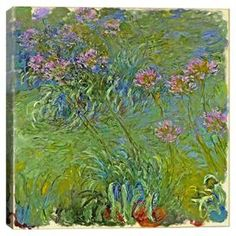 Add gallery-worthy appeal to your walls with this canvas giclee print of Claude Monet's Agapanthus Flowers.    Product: Canvas printConstruction Material: Canvas and pine woodFeatures:  Gallery-wrappedReady to hangProfessionally hand-stretched Cleaning and Care: Avoid sunlight and areas of high humidity. Dust gently with a soft dust brush.