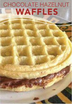Make snack time easy with these Chocolate Hazelnut Eggo Waffles ...
