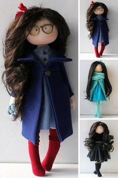 Collectable doll Tilda doll Rag doll Muñecas Fabric doll Blue Handmade Shop, Handmade Items, Etsy Handmade, Handmade Gifts, Clothes Crafts, Doll Clothes, Birthday Gifts For Best Friend, Helpful Tips, Soft Dolls