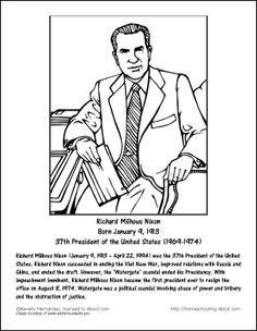 presidents sheets richard milhous nixon worksheets and coloring pages