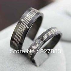 Music Rings for Women | Musical Notes Ring For Men & Women Fashion 316L Stainless Steel Rings ...