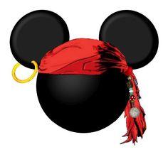 Imprimibles de Mickey y Minnie pirata 6.