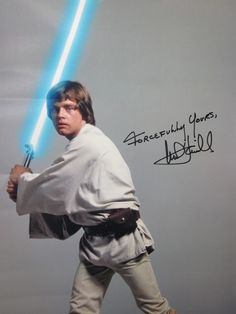 Photo of Luke Skywalker signed by Mark Hamill at Combat Con 2011
