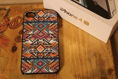 Original Native Tribal Apple Iphone 4 / 4s Hard Case Pattern Hipster Aztec. $15.00, via Etsy.