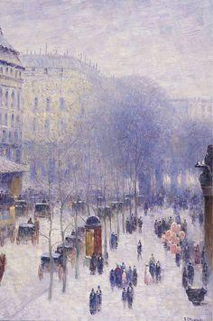 Gail Sherman Corbett - A Boulevard in Paris street