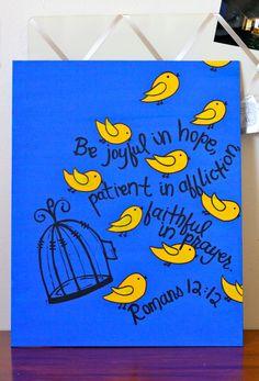 Romans 12:12 with birds