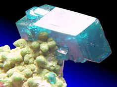 Dioptase with Duftite from Tsumeb, Namibia...a slice of heaven???
