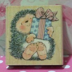 A GIFT FOR YOU 1447H Margaret Sherry Hedgehog Penny Black Rubber Stamp #1574 in Crafts, Stamping & Embossing, Stamps   eBay