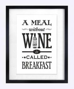 A #meal without #wine...