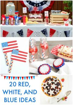 20 Red White and Blue Ideas