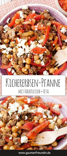 Low Carb Kichererbsen-Hackfleisch-Pfanne mit Feta und Paprika Fast low carb chickpeas minced meat pan with peppers and feta - a healthy and delicious Law Carb, Fast Low Carb, Healthy Snacks, Healthy Eating, Clean Eating, Eating Fast, Healthy Fats, Low Carb Recipes, Healthy Recipes