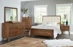 Amish Phoenix Upholstered Panel Bed from DutchCrafters Amish Furniture