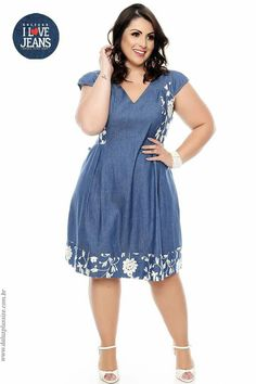 Vestido Plus Size Nelyce Casual Dresses Plus Size, Sexy Dresses, Plus Size Outfits, Summer Dresses, African Print Fashion, African Fashion Dresses, Denim Fashion, Fashion Outfits, Fashion Fashion