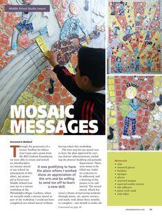 art lesson lart lesson lantern middle school   Mosaic, middle school studio art lesson, ...   000 MOSAIC?GLASS STUDI ...