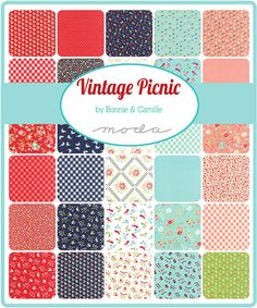 New Vintage Picnic Quilt Fabric Moda Layer Cake Bonnie & Camille