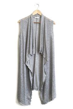 Waterfall Vest in Grey   ROOLEE