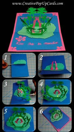 Kiss Me In Paradise Pop Up Card Tutorial