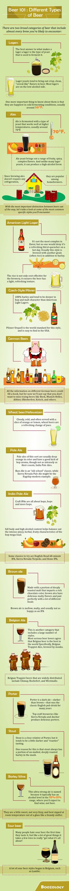 Different Types of Beer #Boozology
