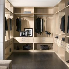 walk in closet interior Walk In Robe Designs, Walk In Closet Design, Wardrobe Design, Made To Measure Wardrobes, Dressing Room Closet, Dressing Rooms, Built In Furniture, Wardrobe Cabinets, Walk In Wardrobe