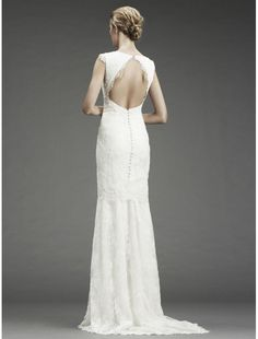 Backless mermaid gown