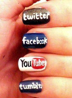 Social Media nail designs