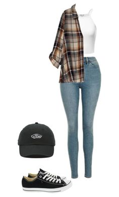 """""""Cool"""" by preciousabebe ❤ liked on Polyvore featuring Topshop, Bobeau, Converse and Vans"""