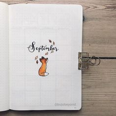 bullet journal octobre 45 Foxy and Sly Fox themed bullet journal ideas Bullet Journal September Cover, Bullet Journal Cover Ideas, Bullet Journal Monthly Spread, Bullet Journal 2020, Bullet Journal Layout, Journal Covers, Bullet Journal Inspiration, Journal Pages, Journal Ideas