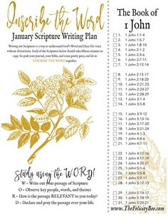 Inscribe the Word- January Scripture Writing Plan is here! In this months Bible Study, we are writing out 1 John.  pray that you join us over at The Felicity Bee as we hear God in a fresh new way as we write out and study His word. #biblestudy #scripturewriting