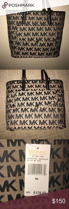 1ac6e197ed1b3f MICHAEL Michael Kors Purse MICHAEL Michael Kors Purse; MK signature  pattern; Khaki and Black