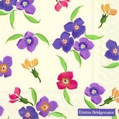 3320 Servilleta decorada flores
